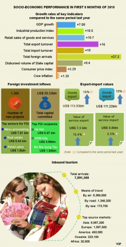 Infographics: VN posts highest first-half growth since 2011